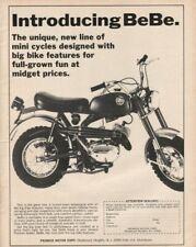 1971 Premier BeBe Mini-Cycle -Vintage Motorcycle / Minibike Ad