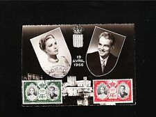 MAXIMUM CARD Grace Kelly Prince Rainier Monaco 19 April 1956 Wedding Air USA 6z