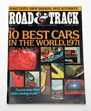 Road & Track Magazine August Ten Best Cars in the World 1971 BMW Bavaria 240Z