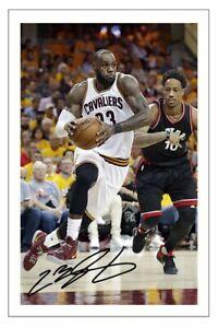 LEBRON JAMES CLEVELAND CAVALIERS AUTOGRAPH SIGNED PHOTO PRINT NBA BASKETBALL