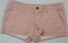 Mossimo Junior Women's Low Rise Straight Hip Pink Butterfly Print Shorts size 5