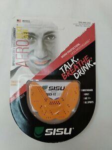 SISU NextGen Aero Guard Mouthguard Adult Age 11+ 1.6MM Thin Tangerine Orange