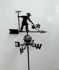 FRENCH DESIGN weather vane black gardener  GARDEN  OUTDOOR NEW