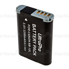 NB-12L NB12L 2200mAh Replacement Battery for Canon PowerShot G1 X Mark II