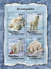 Central African Rep 2018 MNH Polar Bears 4v M/S Mammals Wild Animals Stamps