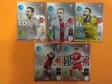 Panini Adrenalyn XL Euro 2016 set 5 cards limited edition