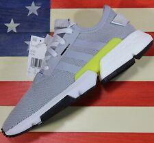 Adidas POD-S3.1 Originals Boost Men's Running Shoes Grey/Yellow/White [B37363]