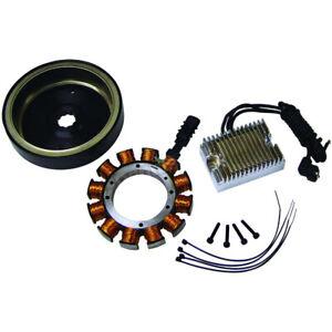 High Performance Chrome 32 Amp Charging System 70-99 Harley Evo Shovelhead BT