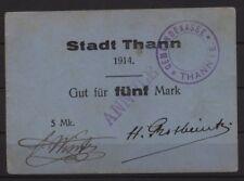 [18501] - Notgeld THANN (aujourd'hui: THANN), ville, 5 Mark, 00.00.1914, Dießner 395.6