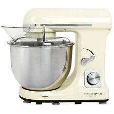 Charles Bentley 1000W Cream Food Stand Mixer 5L Bowl, Splash Guard, Dough Hook