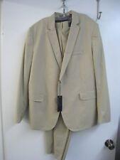 NWT American Rag MENS TAN SUIT Slim Fit 2 Button 2XL Jacket, 36W 30L Pants