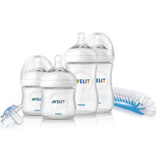 Philips Avent Natural Newborn Starter Set SCD290/01 BPA Free Baby Bottle Bundle