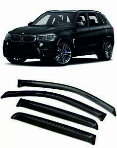 For BMW X5 (F15) 2013-2018 Window Visors Sun Rain Guard Vent Deflectors