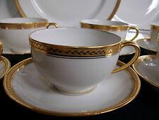 HAVILAND-GDA LIMOGES (c.1894-1931) CUP & SAUCER- ENCRUSTED GOLD RIM!! MINT!!