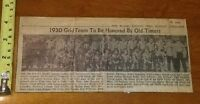1930 SEMI PRO FOOTBALL TEAM DOLGIN DAIRY 1968 TOLEDO BLADE CLIPPING
