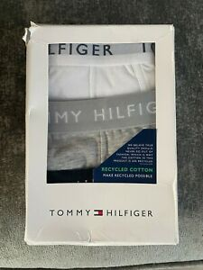 Mens Tommy Hilfiger Trunks/boxer Shorts Size Medium Black Grey And White Bnib