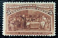1893 US SC#234 5c Columbian Exposition Mint CV:$50