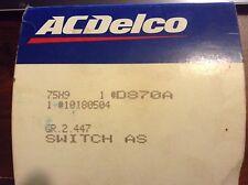 1988-92 REGAL, CUTLASS SUPREME, REGAL, LUMINA STOP LAMP SWITCH NOS GM 10180504