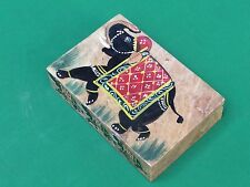 Marble Jewelry Box Trinket Elephant Design Hand painted Home Decor Arts & craft