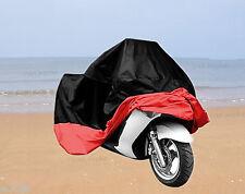 XXL Universal Anti-Wind Snow UV Waterproof Motorcycle Motorbike Cover Black Red