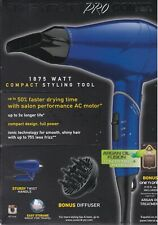 Infiniti Pro Hair Dryer by Conair 1875 Watt Motor Styling Tool Kit - Blue