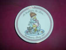 Avon 1987 Mothers Day Porcelain Plate 22k Gold Trim A Mother Is Love