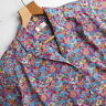 Vintage LIBERTY Print Shirt Blouse Floral Tana Lawn Cotton Red Blue UK 10 12