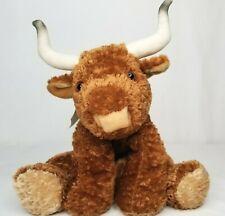 "Mary Meyer Plush Cow Texas Longhorn 13"" Soft Bull Brown Cute Floppy Flip Flops"