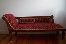 ANTIQUE VICTORIAN MINER'S COUCH CHAISE LOUNGE DAY BED