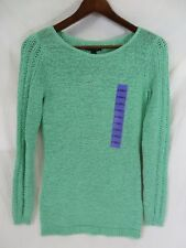 Rachel Zoe Sweater Pull Over Style Long Sleeve Rounded Neck Green Size XS  #7085