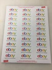 "eBay Thank You Labels 2 5/8"" X 1"" 1020 Labels 34 Sheets FREE SHIPPING"