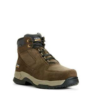 """Ariat Men's Contender 6"""" Ash Brown Steel Toe Work Boots 10027338"""
