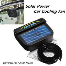 Solar Power Car Window Air Vent Auto Cooling Fan Cooler Radiator w/ Rubber Strip