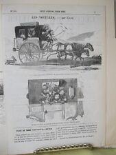 Vintage Print,LES VOITURES,Horse,Petit Journal,c1890