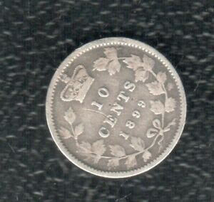 CANADA 10 CENTS 1899 SILVER