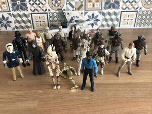 Vintage Star Wars Figures Job Lot Bundle - USED CONDITION 1977-1995 Plus Xwing