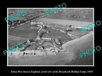 OLD LARGE HISTORIC PHOTO OF SELSEY ENGLAND, THE BROADREEDS HOLIDAY CAMP c1950