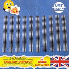 10 un. 40-pin 2.54mm 1x40 arranque Macho encabezado para tablón una sola fila UK