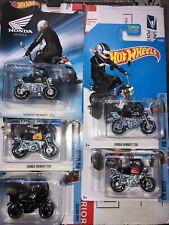 Hotwheels Honda Monkey Z50 Motorcycles Lot of 5 Color Variations