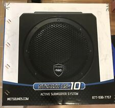 "Wet Sounds 500W Marine Powered Active 10"" Subwoofer Enclosure Stealth AS-10"