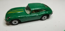 Vintage old HTF Yatming Yat Ming JAGUAR - Green Die-cast Car - Metal Base