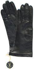 Handschuhe Leder Damen Kaiser Leather Glove Finger gefüttert Schwarz 6,5 S