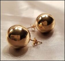 CLASSIC GOLD BALL LARGE 20 MM STUD EARRINGS NEW USA SELLER