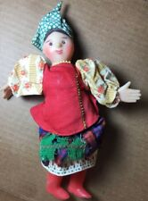 Rare Vintage Solokha Plastic Doll In Traditional Ussr/Russia Outfit