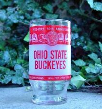 Ohio State OSU Buckeye Football 50th Anniversary of Ohio Stadium - Glass 1957