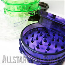 100 Pack 2 Piece Plastic Acrylic Herb Spice Grinder Multi Color Variety Grinders