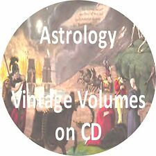 21 OLD BOOKS ASTROLOGY CD HOROSCOPES FORTUNE TELLING ANTIQUE BOOK COLLECTION