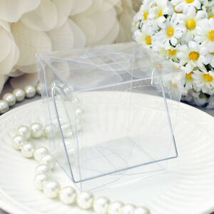 12 Clear Chinese Mini Take Out Boxes Wedding Birthday Party Favor Cake Boxes USA