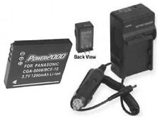 Battery + Charger for Panasonic CGA-S008E/1B DMW-BCE10PP DMW-BCE10 DMW-BCE10E