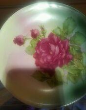"Rare Porcelain ROYAL FIRENZE China 10"" Display Plate,Vintage -SUMMER ROSES"